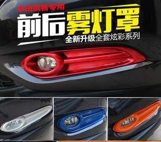 Honda hrv vezel front fog lights red metallic sporty decor