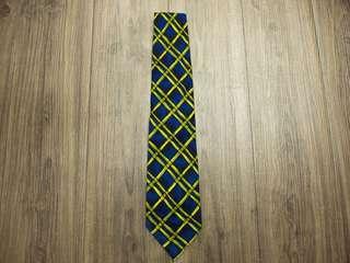 🚚 國際名品 Giovanni 真品  🇮🇹義大利製造🇮🇹  紳士型男必備單品 深藍菱形格紋  100%真絲面料 高級手打領帶