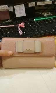 Open Barter MIUMIU bow wallet peach authentic