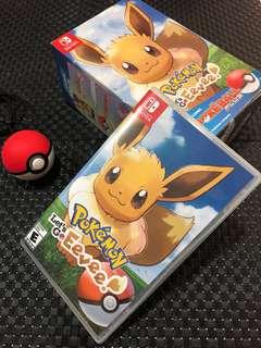 Pokémon Let's Go Eevee w/ Pokéball plus
