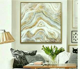 New gold and silver mountain painting