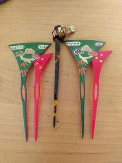 Vintage hairpin from japan (set of 3)
