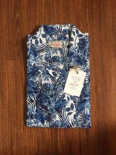 Tropic Thunder Floral Hawaiian Shirt Cuban Colar