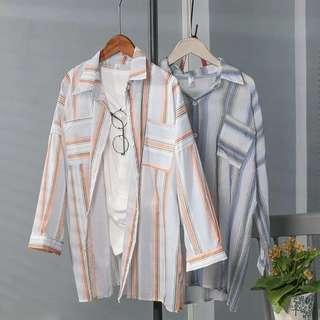 🚚 Stripe Long Sleeve Blouse / Top
