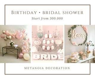 DECOR BIRTHDAY ENGAGEMENT WEDDING MURAH !