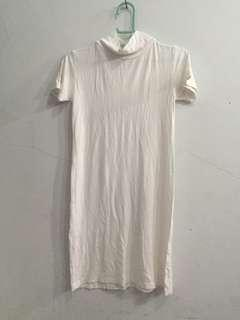 Dress white turtleneck