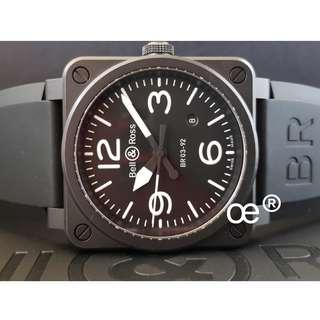 #CNY888 PROMO FULL CERAMIC Bell & Ross BR03-92 Automatic 42mm