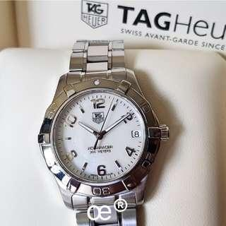 #CNY888 PROMO TAG Heuer Aquaracer 300 Meter Ladies White Mother-of-Pearl Dial Medium Size 32mm QUARTZ