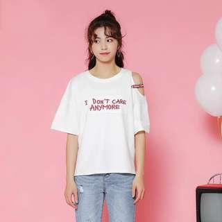 """🚚 """"I don't care anymore"""" White Tee"""