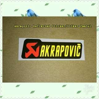 Sticker Reflection /Stiker Pantul Cahaya Akrapovic