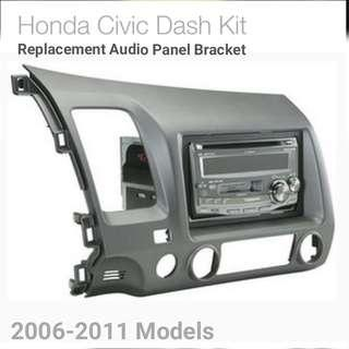 Honda Civic Replacement Audio Panel bracket Dash Kit for 2006 to 2011 civic car -Allows aftermarket stereo to be installed in factory location. Usual $185. Now $ 98. (Brand new in box and sealed )
