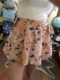 Floral and Black Shorts