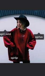X girl crazy big 衛衣