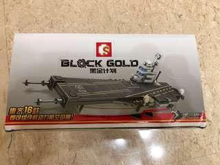 Black Gold not LEGO Aircraft Carrier building set not Brickmania