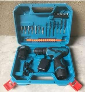 12V lithium battery charging drill Electric screwdriver home kit Combination set hardware manual tool-intl