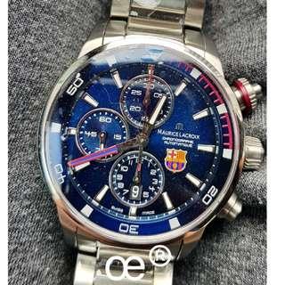 #CNY888 PROMO Maurice Lacroix Pontos S Chronograph Barcelona FC Edition 43mm