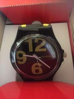 Valentino Yellow Black Plastic Strap Unisex Watch 20122091-YELLOW BLACK