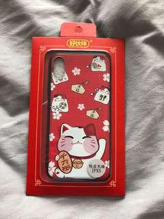 iPhone X/XS fortune cat cny casing