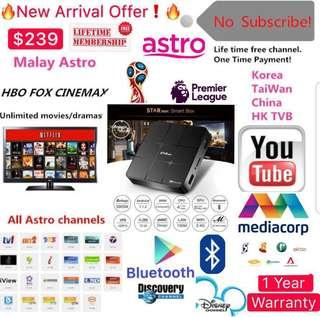 🚚 Offer!!Life time FREE IPTV For Singapore users MediaCorp Channels(Malay/Chinese/Indian/English/Kids/Sports/Movies/Documentary/Korea/) and many more GoLive Bluetooth STARmax -IGTV-IGBox