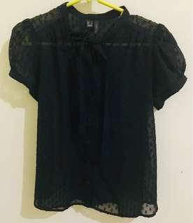 MANGO - Black Blouse #1