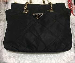 Preloved Authentic/Original Prada Chain Bag - Black