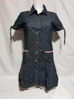Dolce & Gabanna Denim Mini Dress Size 42 on tag