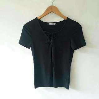 Pull & Bear lace up top