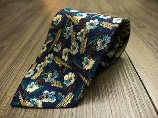 🚚 🇯🇵日本製造正品🇯🇵 全新真品 🐊 Crocodile 鱷魚 🐊 超美滿版印花 100% 真絲 高級手打領帶