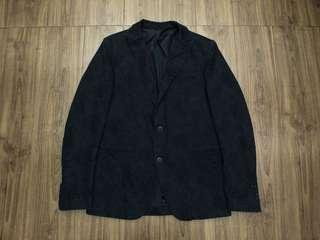 🚚 國際高端品牌精品 SISLEY 真品  高端系列 尊貴墨綠色 高質感滿板印花 合身版設計 高級西裝西服(46)  黃金尺寸:46(M)