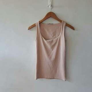 Zara Peach Sleeveless top