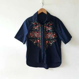 Embroidered Top Zara inspired