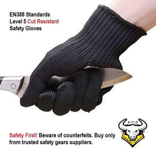 INSTOCK Authentic Anti Cut Safety Gloves Cut Resistant
