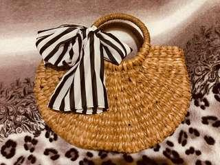 Bali indonesia Rattan Bag Great for Ootd's