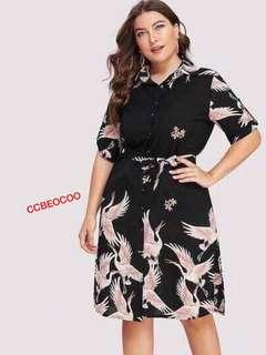 📢new A R R I V A L !!! 🎉🎉🎉🎉  🌺Fashion casual plus size dress ( with belt )  🌼crepon  🌷One size (fit M to xL )  💫One color  🎀Good Quality 💕