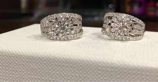 3-Carat Illusion Pavé Diamond Earrings