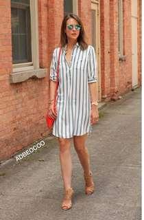 💫Stripe dress  💫Free size up to Large  💫1 Colors 💫Same quality and cloth