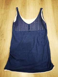 Blue Singlet Knit #CNY888