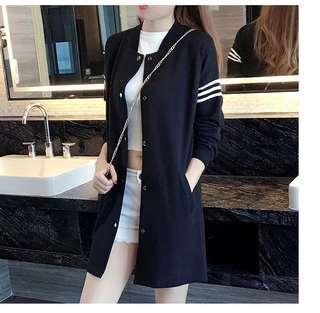 🚚 (58023)大碼2019春裝時尚拼接外套(黑色)