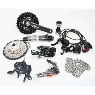 SHIMANO M6000/SHIMANO DEORE GROUPSET 2X10S (Completed set with M6000 Hydraulic Brake) (P.O.)
