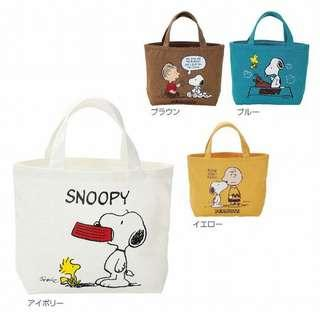 🚚 正版授權 日本 花生漫畫 SNOOPY 史努比 手提包 收納包 置物包 環保包 外出包 四款