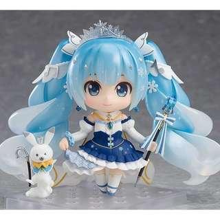 [預訂] 黏土人 1000 雪未來 Snow Princess Ver.  雪初音 CharacterVocal 雪ミク 初音 miku 土人 goodsmile GSC