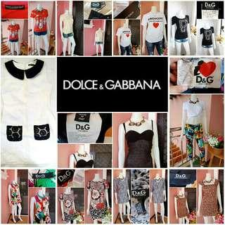 LIMITED TIME OFFER -Yunik- Take all Authentic D&G / Dolce and Gabbana Tops, Dresses, and a Pants