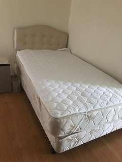 Super Single Bed Mattress with Bed Frame