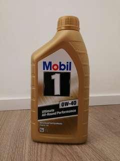 Mobil 1 0W-40 engine oil 1L 全新金裝 1公升潤滑油