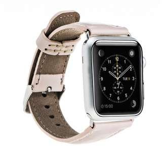 🚚 Leather Band (Nude) for Apple Watch 38mm 40mm