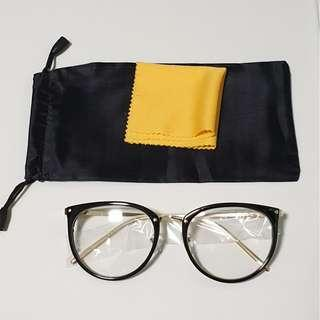 Korean Style Vintage Black with full gold rod spectacle frame