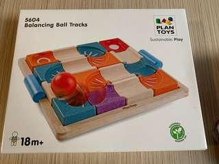 Plan Toys Wood Balancing Ball Track