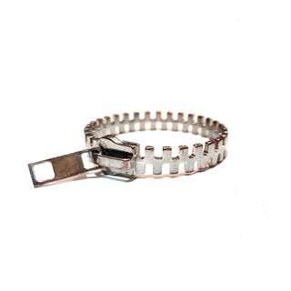 Silvercoat Zipper Cuff Bracelet