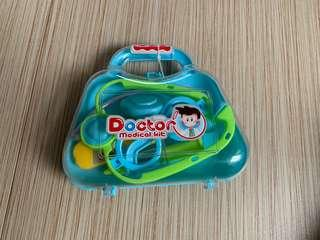 Pretend play doctor set with box