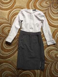 MDS office shirt dress